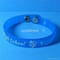 12mm Soft  PVC Rubber Bracelets