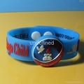 Custom Shape Soft  PVC Rubber Bracelets