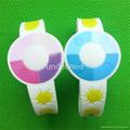 UV Test  Soft  PVC Rubber Bracelets