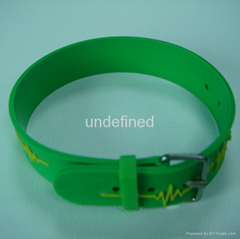 Custom Shape Soft  PVC Rubber Bracelets