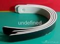 2 Colors Soft  PVC Rubber Bracelets