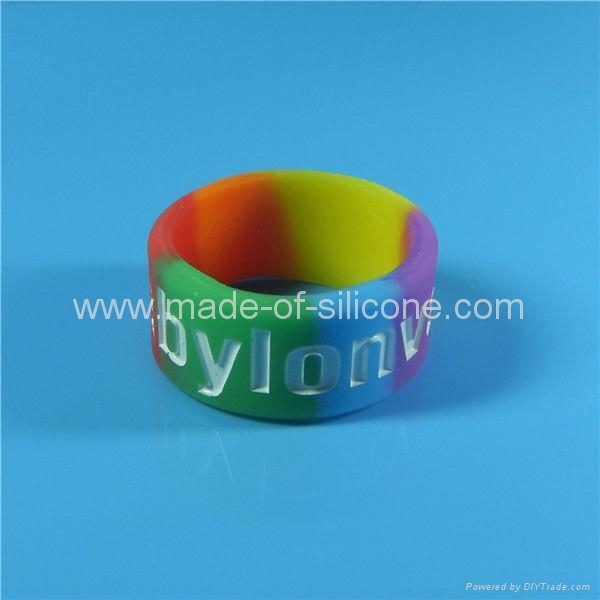 Custom Segmented color Silicone Rings 1