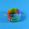 Custom Segmented color Silicone Rings