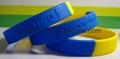 Segmented Color Debossed Silicone Wristbands 2