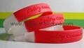 Segmented Color Debossed Silicone Wristbands 3