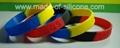 Segmented Color Debossed Silicone Wristbands 4