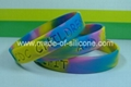 silicone wristband (swirled color)