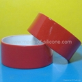 1 inch Color coated silicone wristbands  1