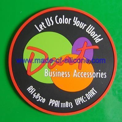 Soft PVC coaster / cup mat /soft pvc cushion/mug pad 1