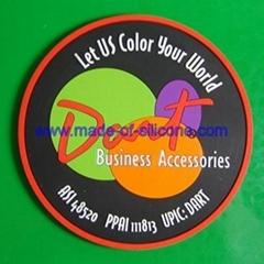 Soft PVC coaster / cup mat /soft pvc cushion/mug pad