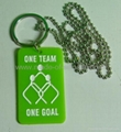 Promotional silicone dog tags / keychain