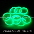 12mm Glow in the dark silicone wristbands