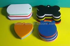 Blank silicone keychains