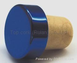 plated aluminium cap bottle stopper  TBE18.3-27.8-20-10