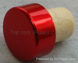 plated aluminium cap bottle stopper  TBE19-30-20-14