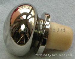Zamak cap cork bottle stopper TBZA19.8-39-20.1-30.5