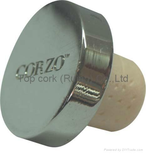 Zamak cap cork bottle stopper TBZA24-43.4-20.6-11.3 1