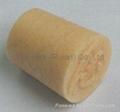 Cone-shaped cork bottle stopper
