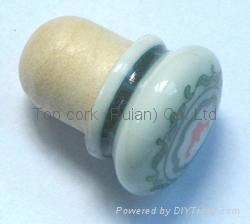 Ceramic cap cork stopper TBCE19.2-25.3-30.3-20-17.6 1
