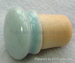 Ceramic cap cork stopper TBCE19.2-25.3-30.3-20-17.6 2