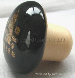 陶瓷蓋瓶塞 TBCE-ceramic  cap showpiece 1