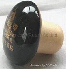 陶瓷盖瓶塞 TBCE-ceramic  cap showpiece