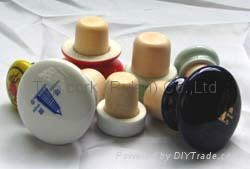 Ceramic cap cork stopper TBCE Assorted ceramic cap showpieces 1