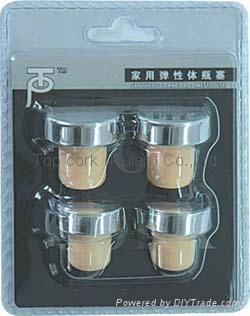 Household blister packed wine bottle stopper TBG2-138-105-30 1