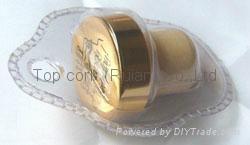 家用吸塑包装葡萄酒瓶塞 TBG6-70-54-36-gold 1