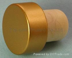 coated aluminium cap cork bottle stopper  TBPC19.2-29.7-21.2-13.5