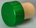 coated aluminium cap cork bottle stopper  TBPC19.4-28.4-20.6-13.7