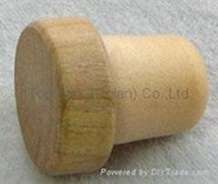 Wooden cap synthetic cork bottle stopper TBW19.8-28.2-20.6-10.3