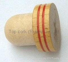 木头帽瓶塞 TBW20-grass wood- showpiece