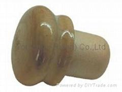Wooden cap synthetic cork bottle stopper TBW22-zelkova -varnish-showpiece