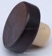 Wooden cap synthetic cork bottle stopper TBW24-50-20.6-15.2