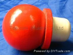 Wooden cap synthetic cork bottle stopper TBW25-45-21-45 1