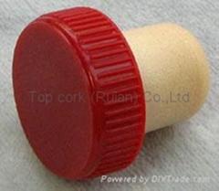plastic cap cork bottle stopper TBP18.2-28.5-18.4-10