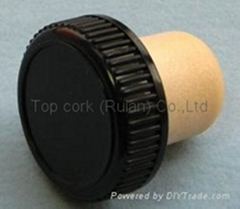 plastic cap cork bottle stopper TBP18.2-30.5-18.4-10.9