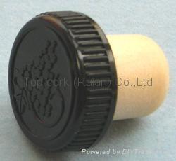 plastic cap cork bottle stopper TBP19.3-30.6-20-10.1 1