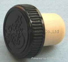 plastic cap cork bottle stopper TBP19.3-30.6-20-10.1