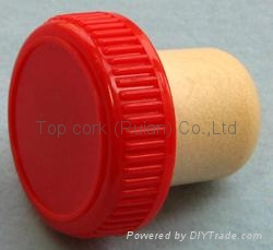 plastic cap cork bottle stopper TBP19.3-30.6-20-10.1 2
