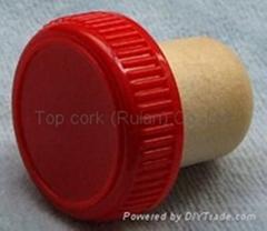 plastic cap cork bottle stopper TBP20-30.6-19.4-10.1