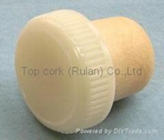 plastic cap cork bottle stopper TBP22-30.5-20.6-10.1