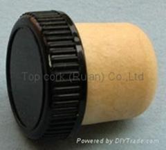 plastic cap cork bottle stopper TBP24-30.5-19.8-10.9