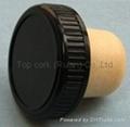 plastic cap cork bottle stopper