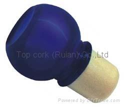 Glass cap cork bottle stopper TBGL22-27.8-40.5-20.6-38 1