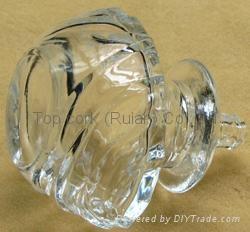 Glass cap cork bottle stopper TBGL22.5-36.2-63.6-21.4-62.5