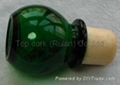 Glass cap cork bottle stopper TBGL24-32.4-43.5-20.6-46