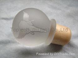 Glass cap cork bottle stopper TBGL24-32.7-42.8-21.5-47