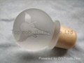 Glass cap cork bottle stopper TBGL24-32.7-42.8-21.5-47